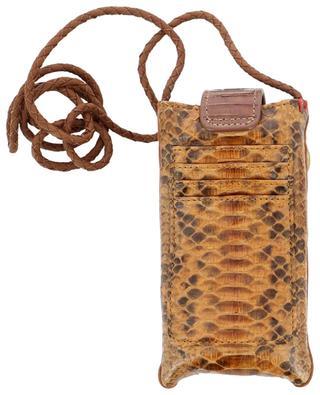 Double Marcus python leather phone case CLARIS VIROT