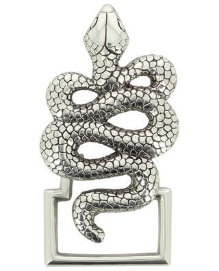 Snake silver belt buckle CLARIS VIROT