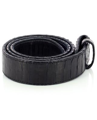 Python leather belt without buckle CLARIS VIROT