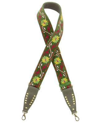 Matcha embroidered handbag shoulder strap CLARIS VIROT