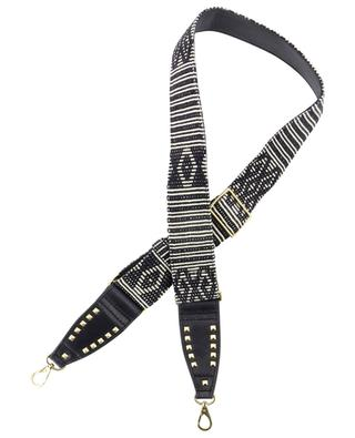 Timor fabric and leather shoulder strap for handbags CLARIS VIROT