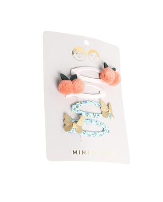Set mit 4 Haarspangen für Mädchen Cherries & Butterflies MIMI & LULA LIMITED