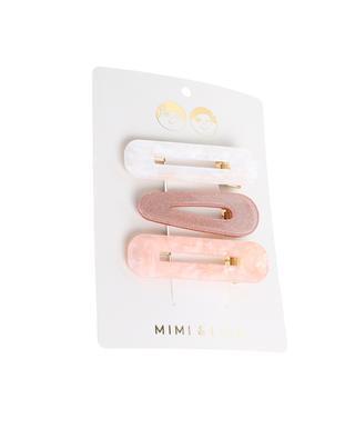 Set mit 3 Haarklammern für Mädchen Shimmer Resin MIMI & LULA LIMITED