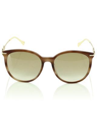 Horse bit adorned tortoise effect sunglasses GUCCI