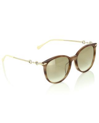 Sonnenbrille in Schildpattoptik mit Trensen GUCCI