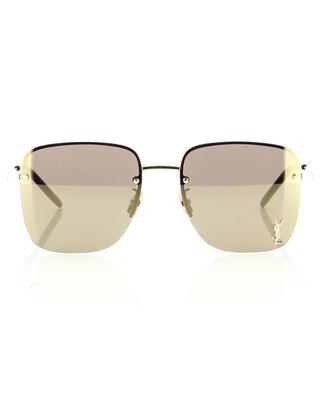 Golden glänzende quadratische Sonnenbrille Monogram SL 312 M SAINT LAURENT PARIS