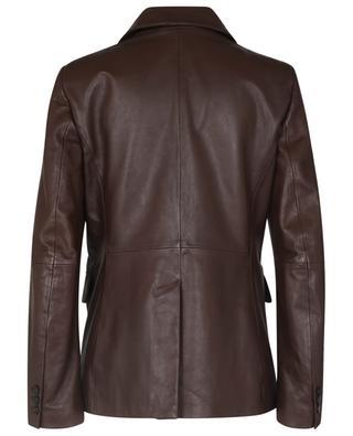 Blazer à boutonnage simple en cuir Valdez WEEKEND MAX MARA
