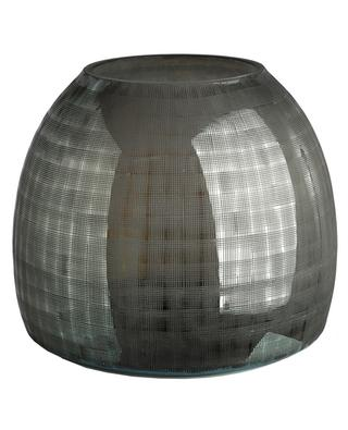 Checkered Grey S glass vase POLS POTTEN