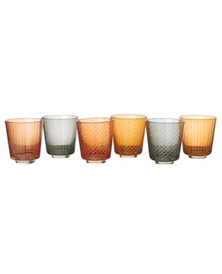 Library set of 6 glass tumblers POLS POTTEN