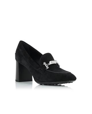 High heeled suede loafers TOD'S