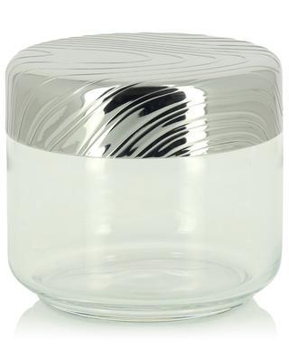 PU05/50 Veneer glass and steel jar - 9.3 cm ALESSI