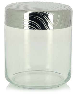 PU05/75 Veneer glass and steel jar - 12.3 cm ALESSI