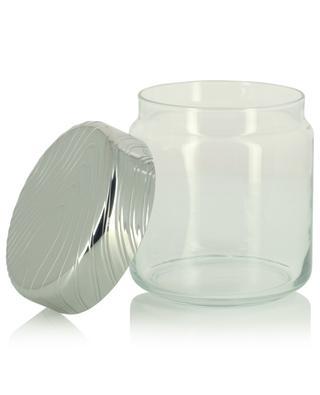 Dose aus Glas und Stahl PU05/75 Veneer - 12,3 cm ALESSI