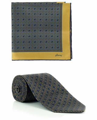 Printed silk tie and pocket square set BRIONI