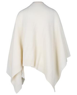 Cape en maille de laine et cachemire orné de dentelle ERMANNO SCERVINO LIFE
