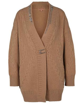 Crystal adorned wool and cashmere cardigan ERMANNO SCERVINO LIFE