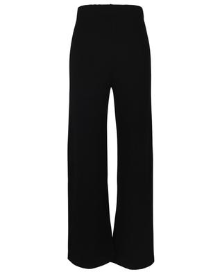 Wide-leg rib knit track trousers ERMANNO SCERVINO LIFE