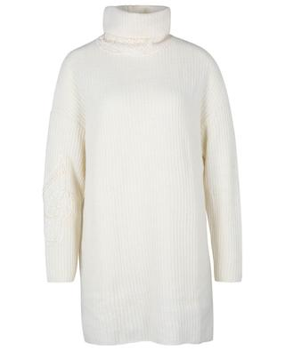 Robe pull en laine et cachemire ornée de dentelle ERMANNO SCERVINO LIFE