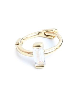 Goldene Mini-Kreole mit Zirkon Celeste Baguette UN CHIC FOU