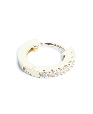 Marcia Lisse gold tone mini hoop earrings with white zircon UN CHIC FOU