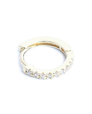 Mathilda Lisse gold tone hoop earrings with white zircon UN CHIC FOU