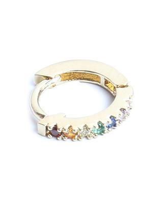 Marcia Lisse gold tone mini hoop earrings with multicolour zircon UN CHIC FOU