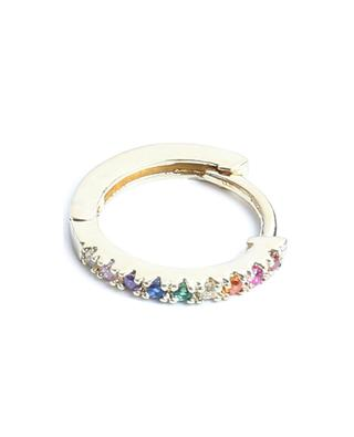 Mathilda Lisse gold tone hoop earrings with multicolour zircon UN CHIC FOU