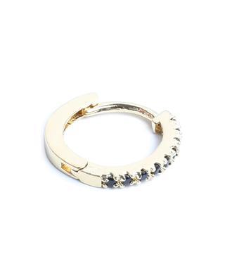 Mathilda Lisse gold tone hoop earrings with black zircon UN CHIC FOU