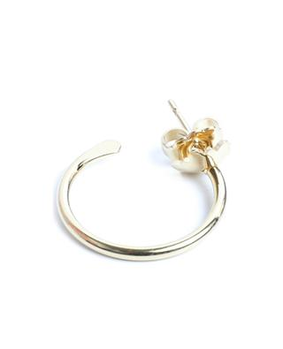 Louise Petite single gold tone hoop earring with pendant UN CHIC FOU