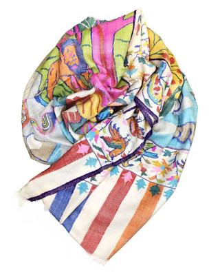 Kani Jamawar Forests of Paradise cashmere scarf EXQUISISTE BY PINK MAHARANI