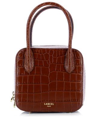 Alice croc embossed leather handbag LANCEL