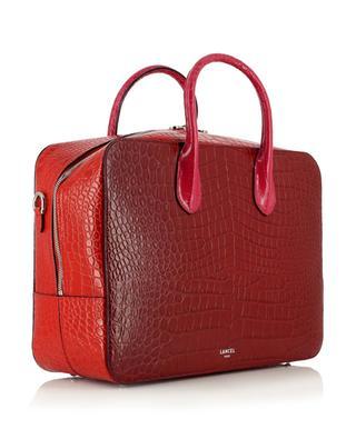 Grand sac box en cuir effet croco Alice LANCEL