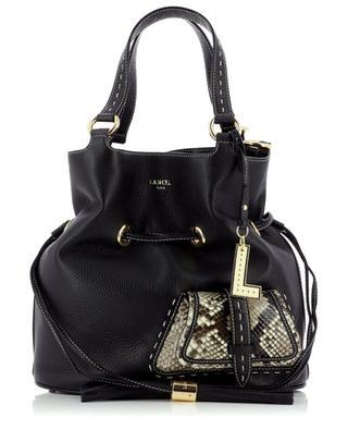 Premier Flirt Medium grained and python leather bucket bag LANCEL