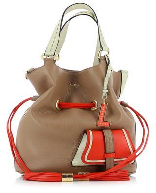 Premier Flirt Medium tricolour grained leather bucket bag LANCEL