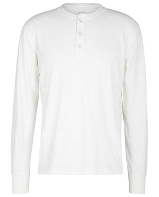 T-shirt à manches longues en coton flammé Henley RAG & BONE