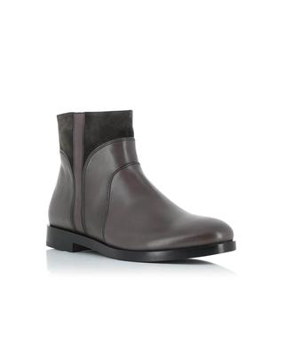 Smooth leather and suede ankle boots TRIVER FLIGHT