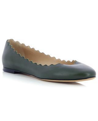 Lauren scalloped leather ballet flats CHLOE