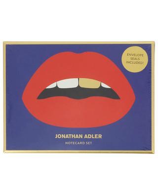 Die-Cut Lips notecard set JONATHAN ADLER