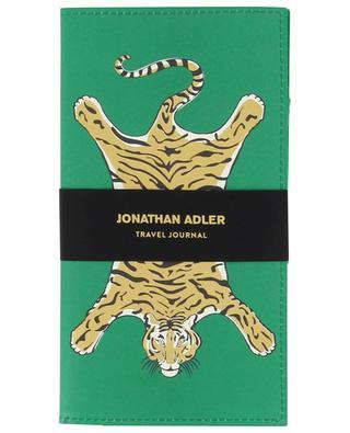 Safari Travel tiger desin vegan leather journal JONATHAN ADLER