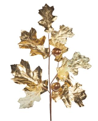 Grande branche de chêne dorée décorative GOODWILL