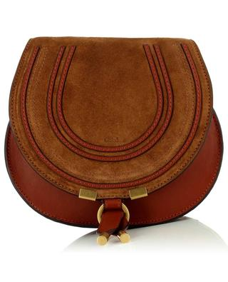 Marcie Small Saddle leather and suede shoulder bag CHLOE