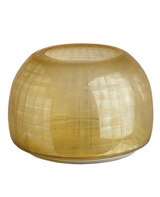 Checkered Amber glass vase POLS POTTEN