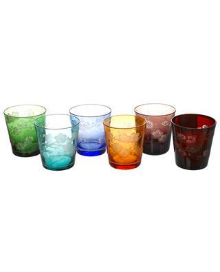 Blossom multicolour glass tumbler set POLS POTTEN