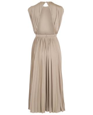 Pleated silk midi dress VALENTINO