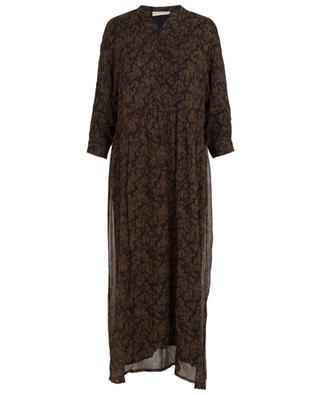 Langes Kleid aus Viskose mit Print Peonyland AMERICAN VINTAGE