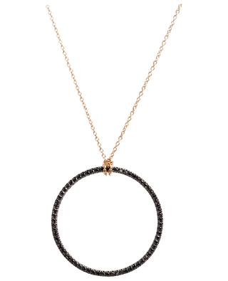 Halskette aus Gold und schwarzen Diamanten Circle GINETTE NY