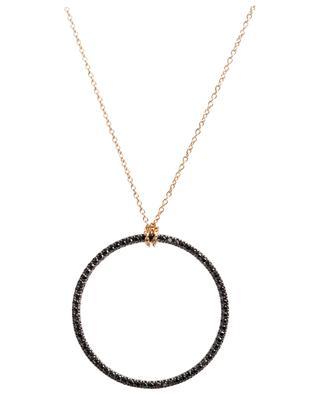 Collier en or à diamants noirs Circle GINETTE NY