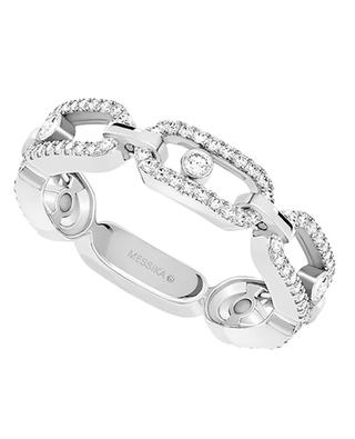 Move Uno Multi Pavé white gold ring paved with diamonds MESSIKA