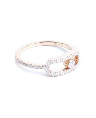 Bague en or rose pavée de diamants Move Uno GM MESSIKA
