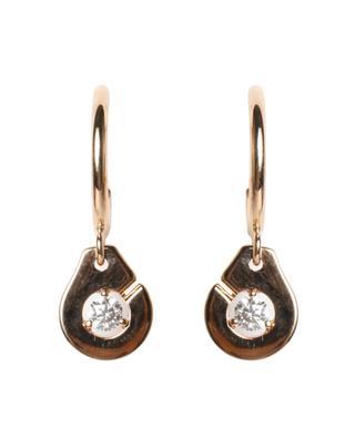 Créoles en or rose et diamant Menottes R8 DINH VAN